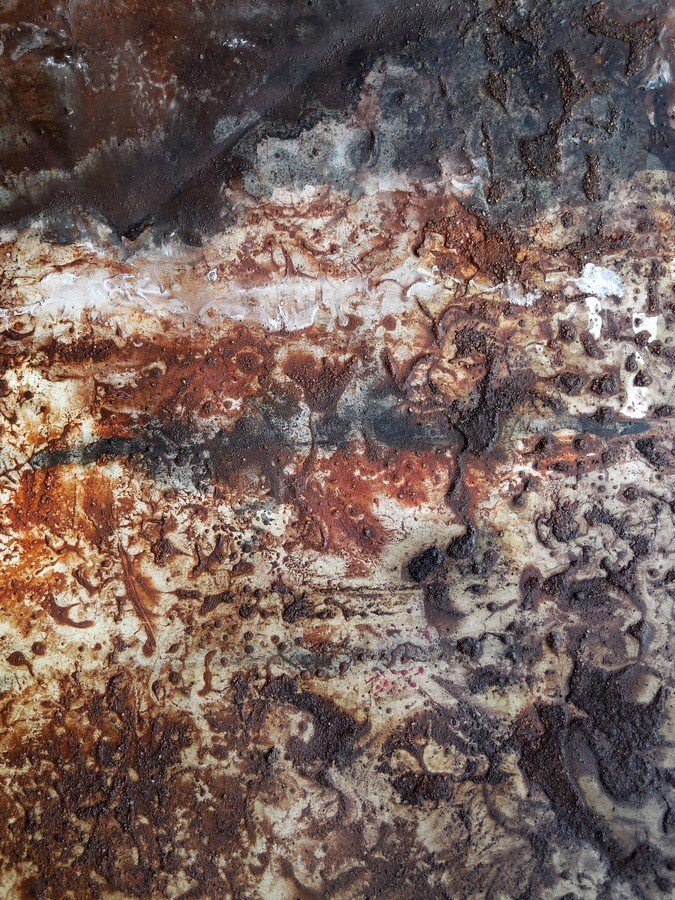 Icona II - terre e resine naturali su cartoncino intelato - cm. 70 x 100 - 2015