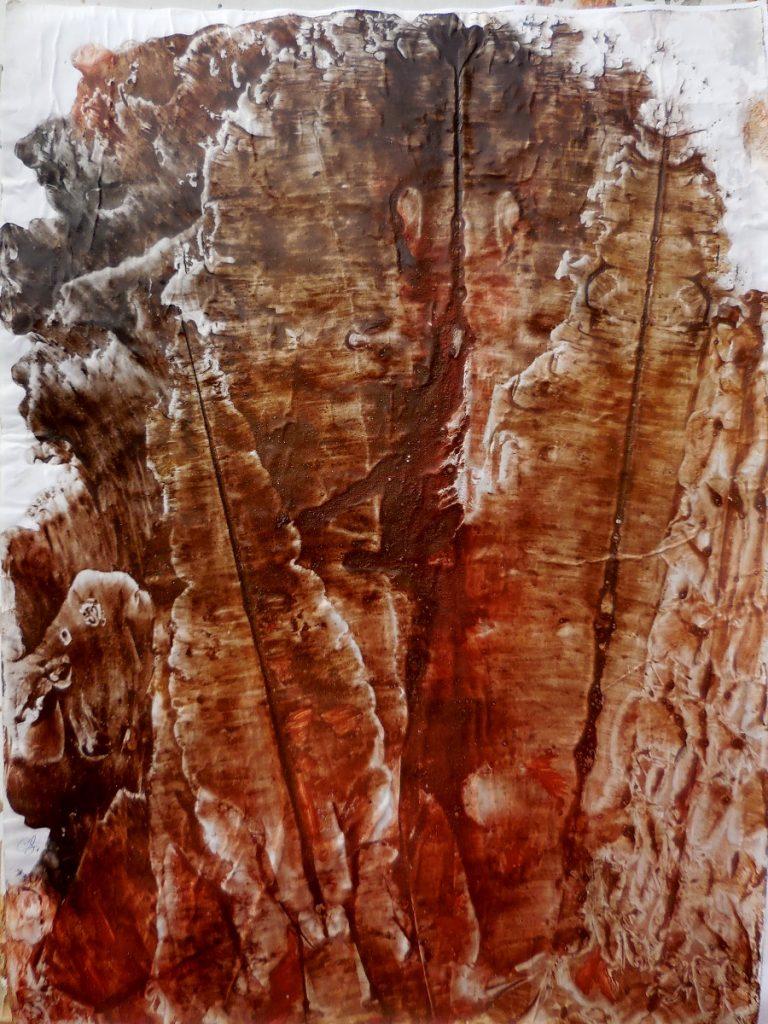 terre e resine naturali su carta - cm. 50 x 70 - 2016