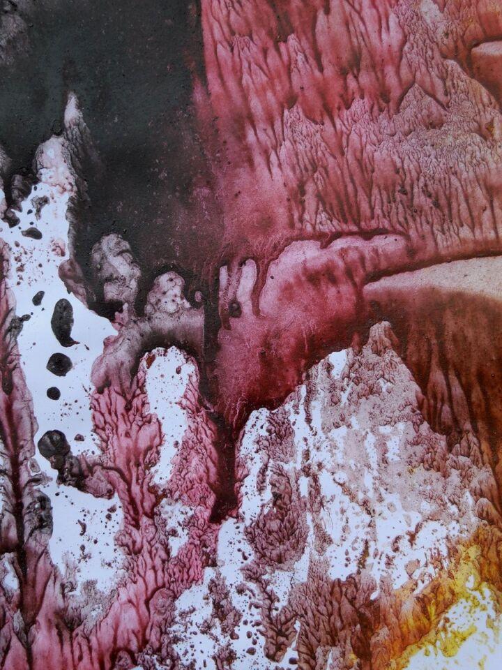 Nature's Perfection III - terre e resine naturali su carta - cm. 50 x 74 - 2016