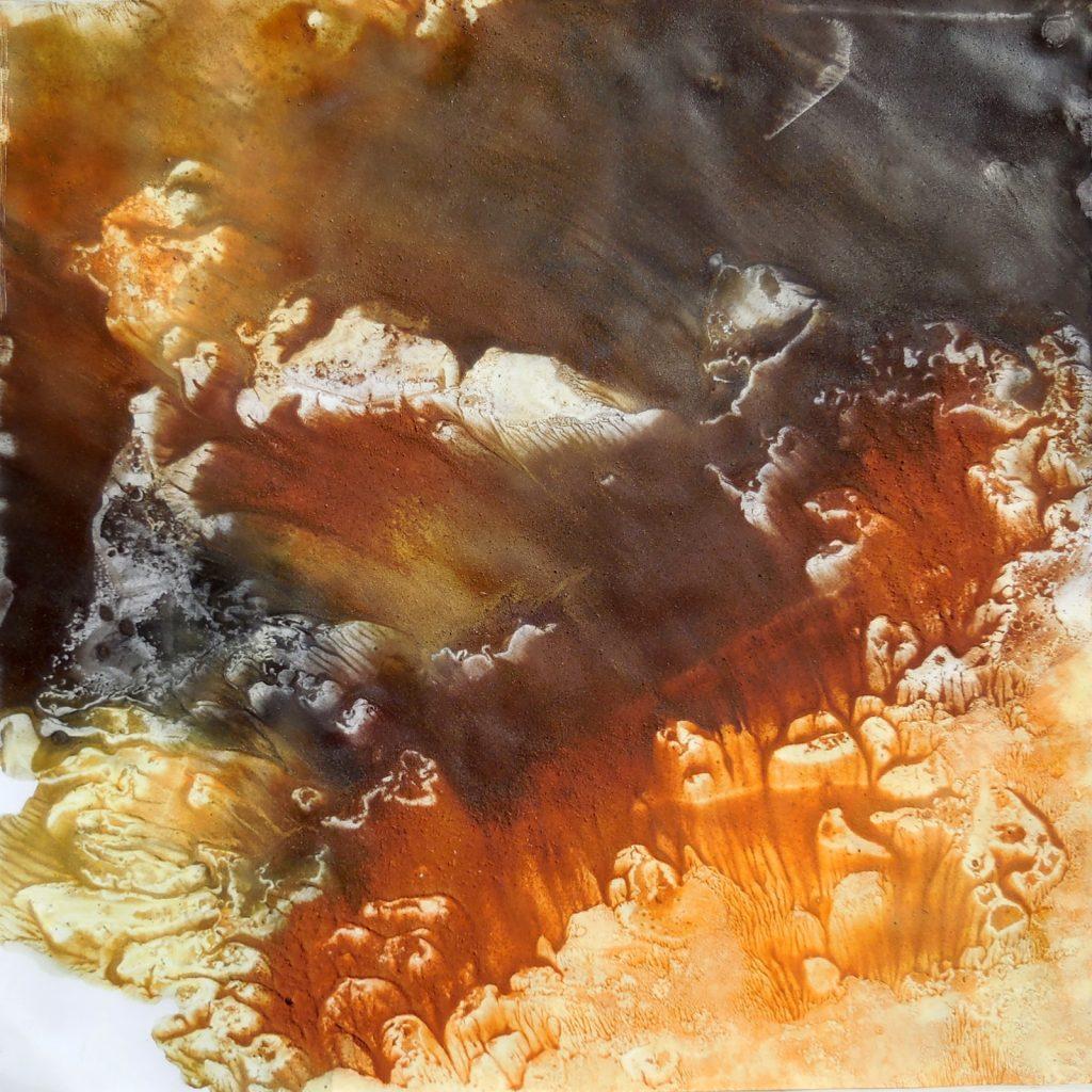AFFRESCO (2015) - cm. 60 x 60 - terre e resine naturali su cartoncino