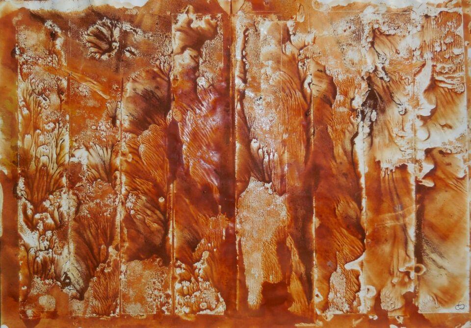 CONTROSENSO (2014) - cm. 47.5 x 33 - terre e resine naturali su carta