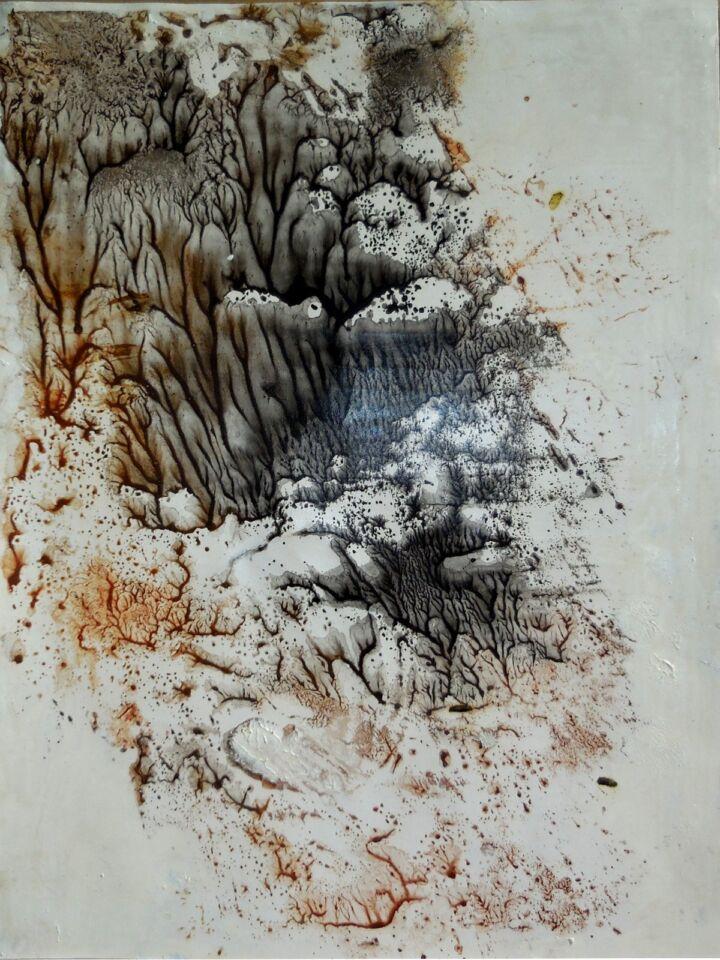 LA SAPIENZA DELLA NATURA II (2016) - cm. 33 x 47.5 - terre e resine naturali su cartoncino