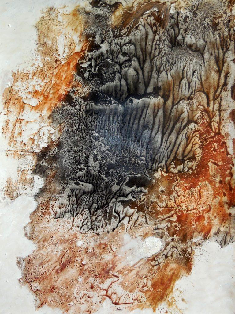 LA SAPIENZA DELLA NATURA III (2016) - cm. 33 x 47.5 - terre e resine naturali su cartoncino