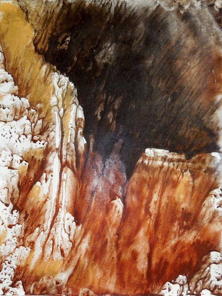 LA SAPIENZA DELLA NATURA V (2016) - cm. 33 x 47.5 - terre e resine naturali su cartoncino