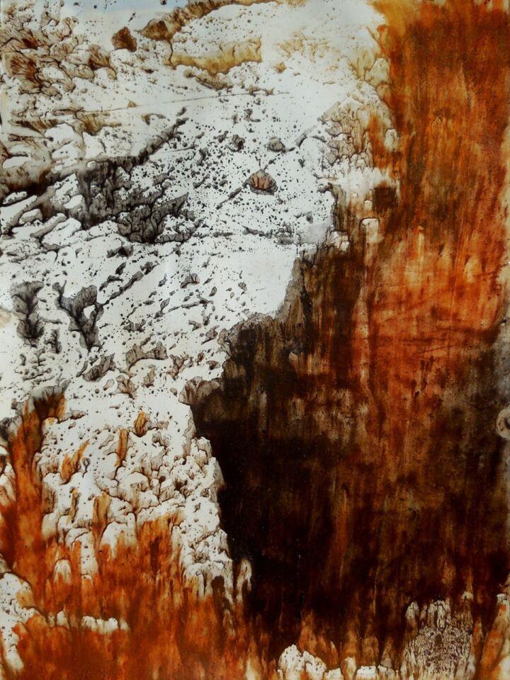 LA SAPIENZA DELLA NATURA VI (2016) - cm. 33 x 47.5 - terre e resine naturali su cartoncino