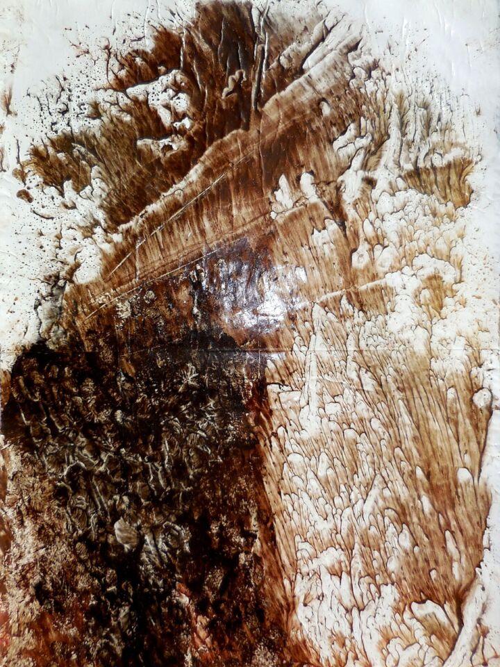 NATURE'S PERFECTION II (2016) - cm. 50 x 70 - terre e resine naturali su cartoncino