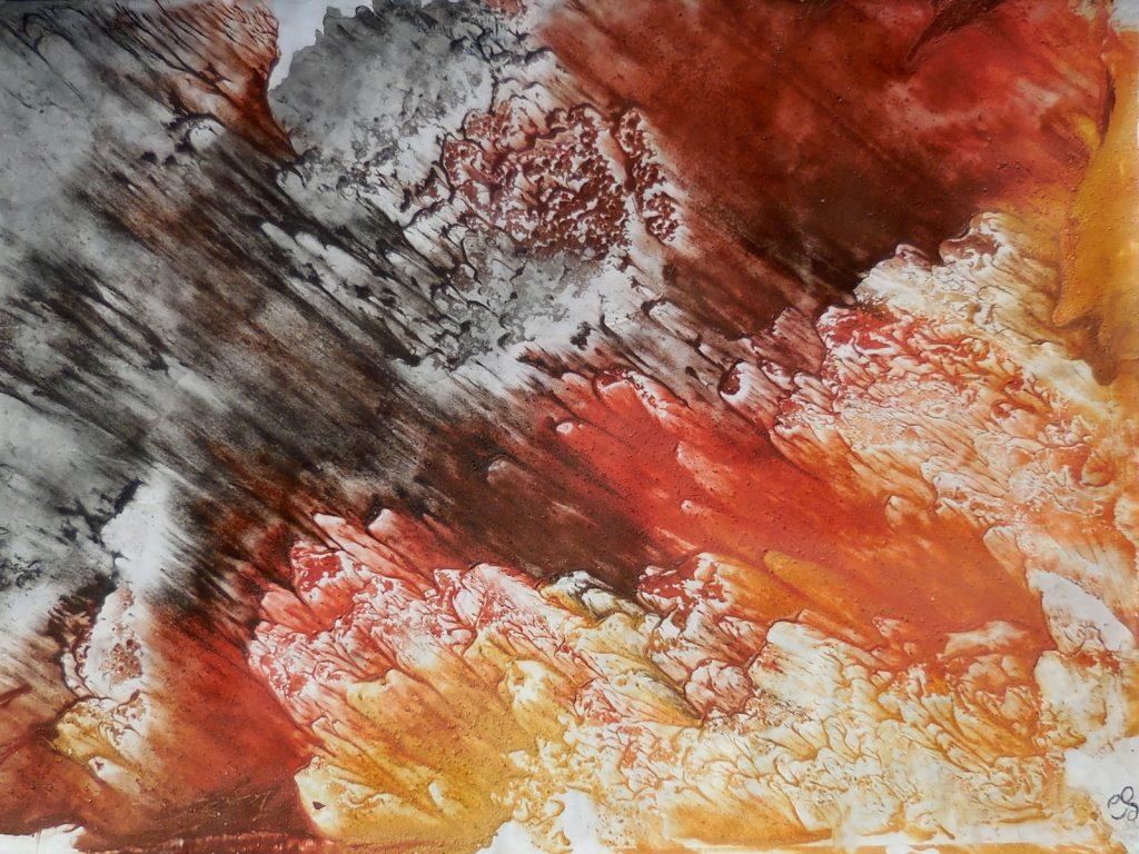 OBLIQUITÀ (2016) - cm. 70 x 50 - terre e resine naturali su cartoncino