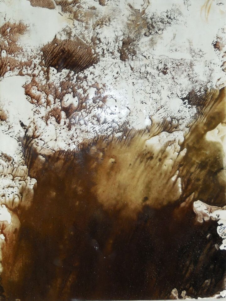 OMBRA E LUCE I (2016) - cm. 29.7 x 42 - terre e resine naturali su cartoncino