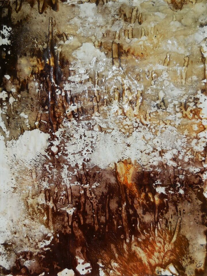OMBRA E LUCE III (2016) - cm. 29.7 x 42 - terre e resine naturali su cartoncino