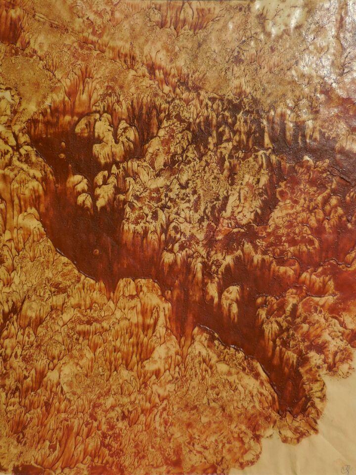 PAESAGGI INTERIORI X (2006) - cm. 50 x 70 - terre e resine naturali su cartoncino