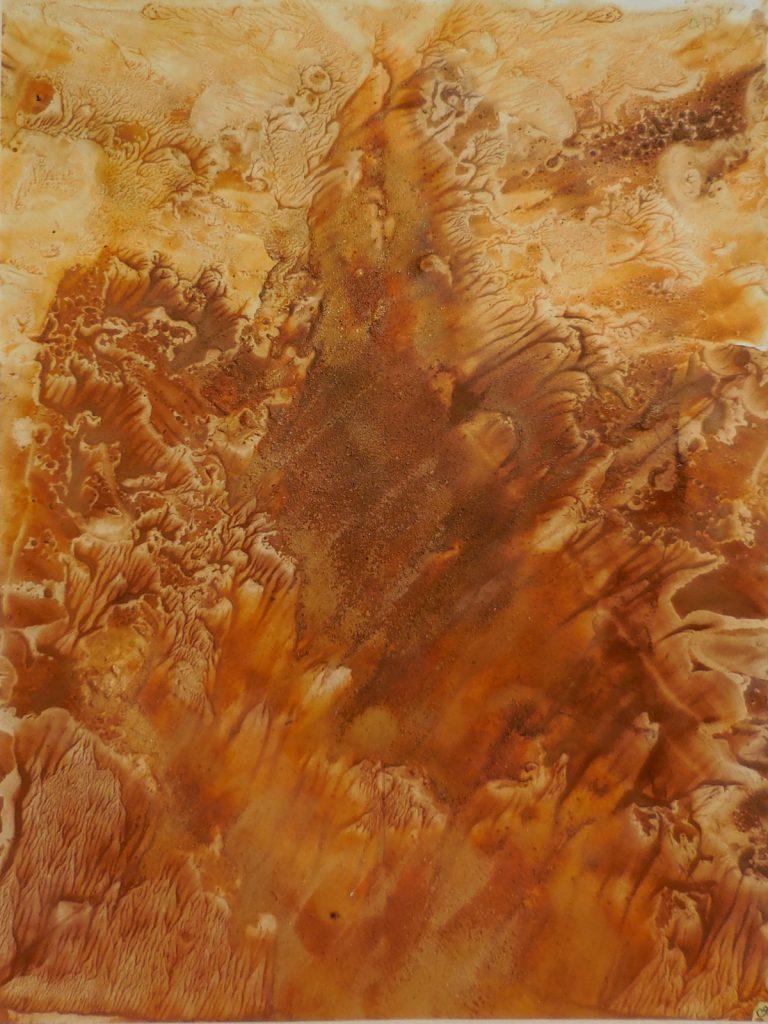 PAESAGGI INTERIORI XI (2006) - cm. 50 x 70 - terre e resine naturali su cartoncino