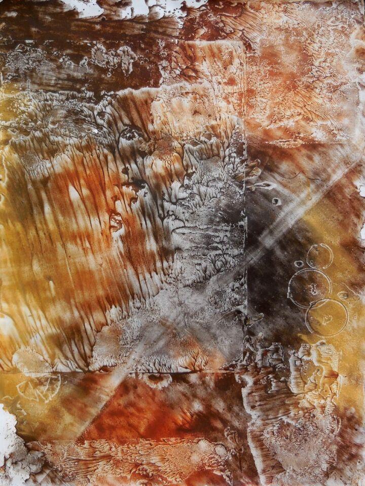 TERRE LONTANE (2016) - cm. 50 x 70 - terre e resine naturali su cartoncino