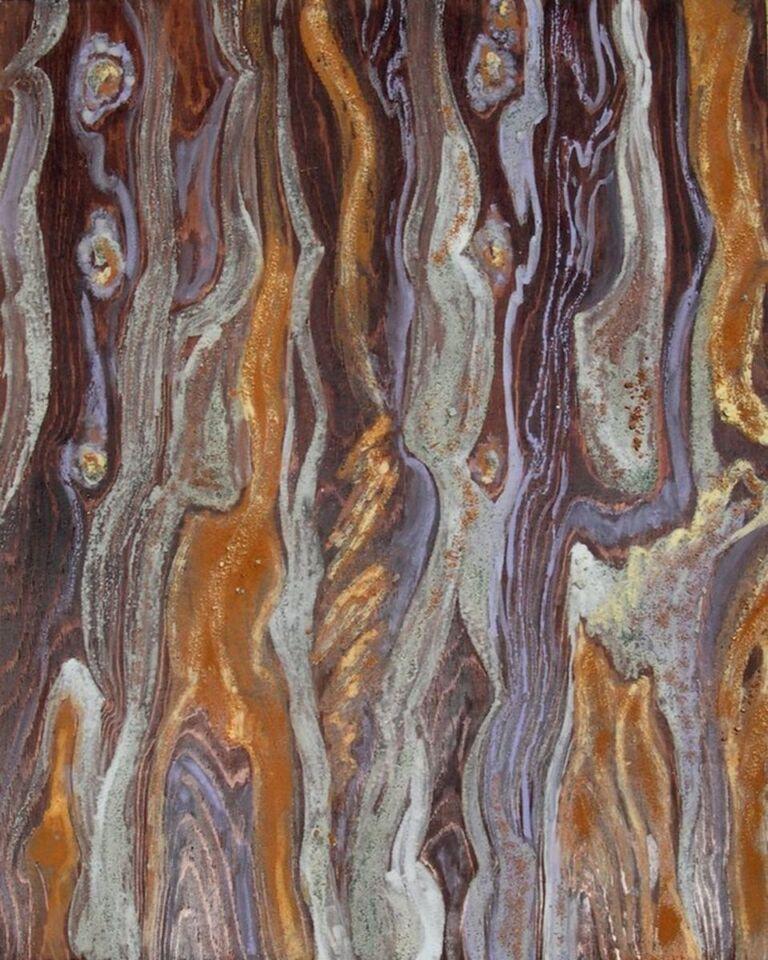 terre e resine naturali su tavola - 90 x 120 cm - 2002