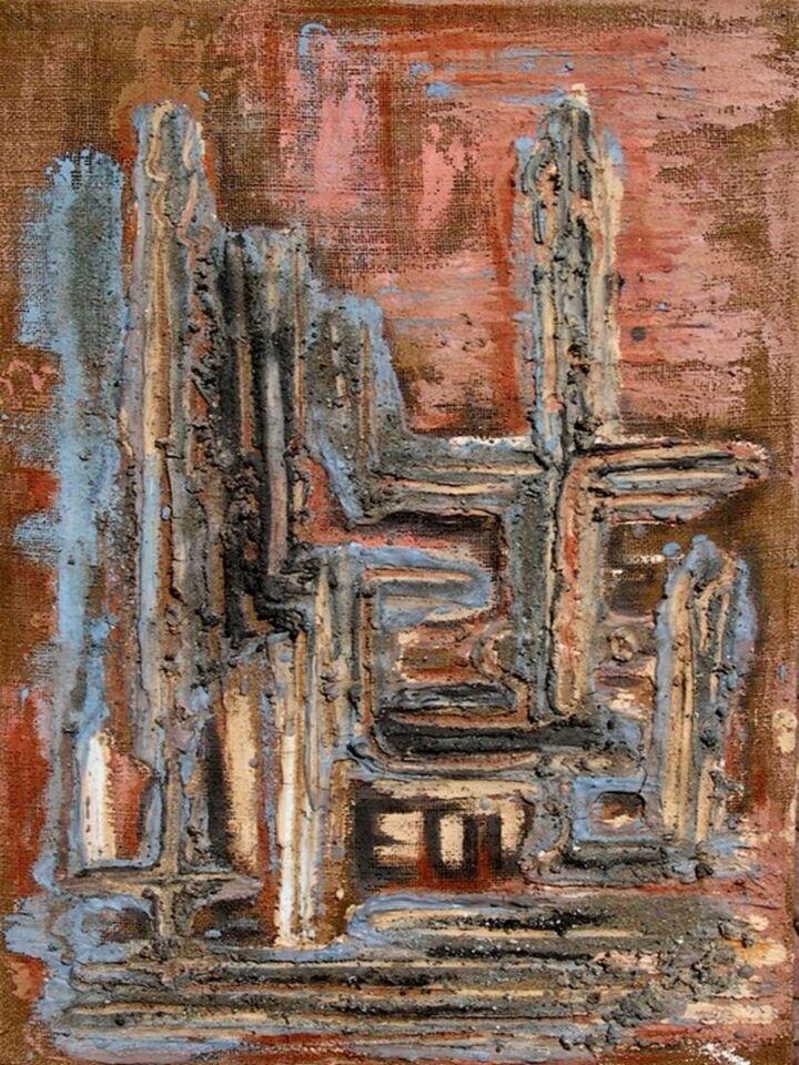 terre, resine e gesso su sacco - 60 x 90 cm - 2003