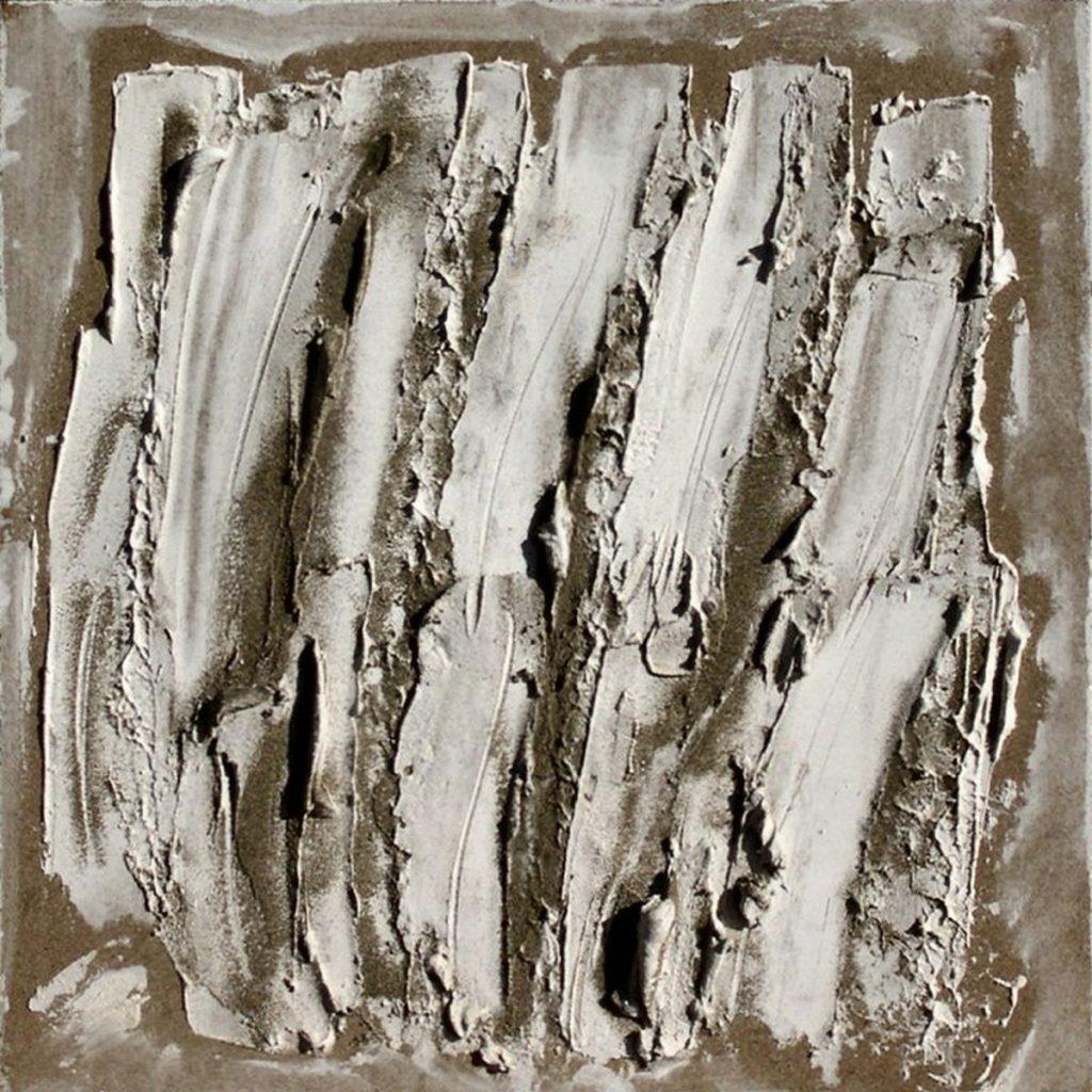terra, sabbia e gesso su tavola - 45 x 45 cm - 2004