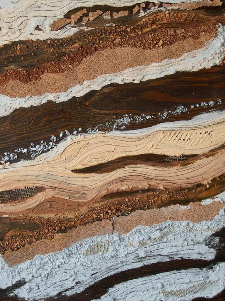 polimaterico con terre su tavola - 45 x 55 cm - 2004