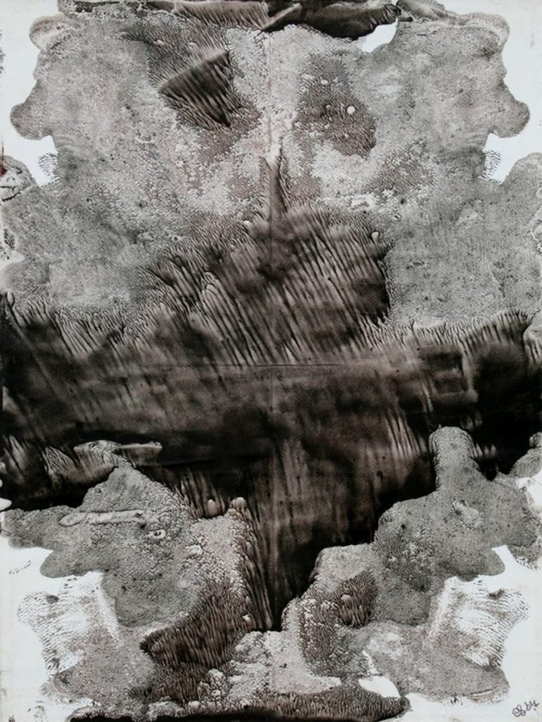 terre e resine naturali su carta su tela - 50 x 70 cm - 2007