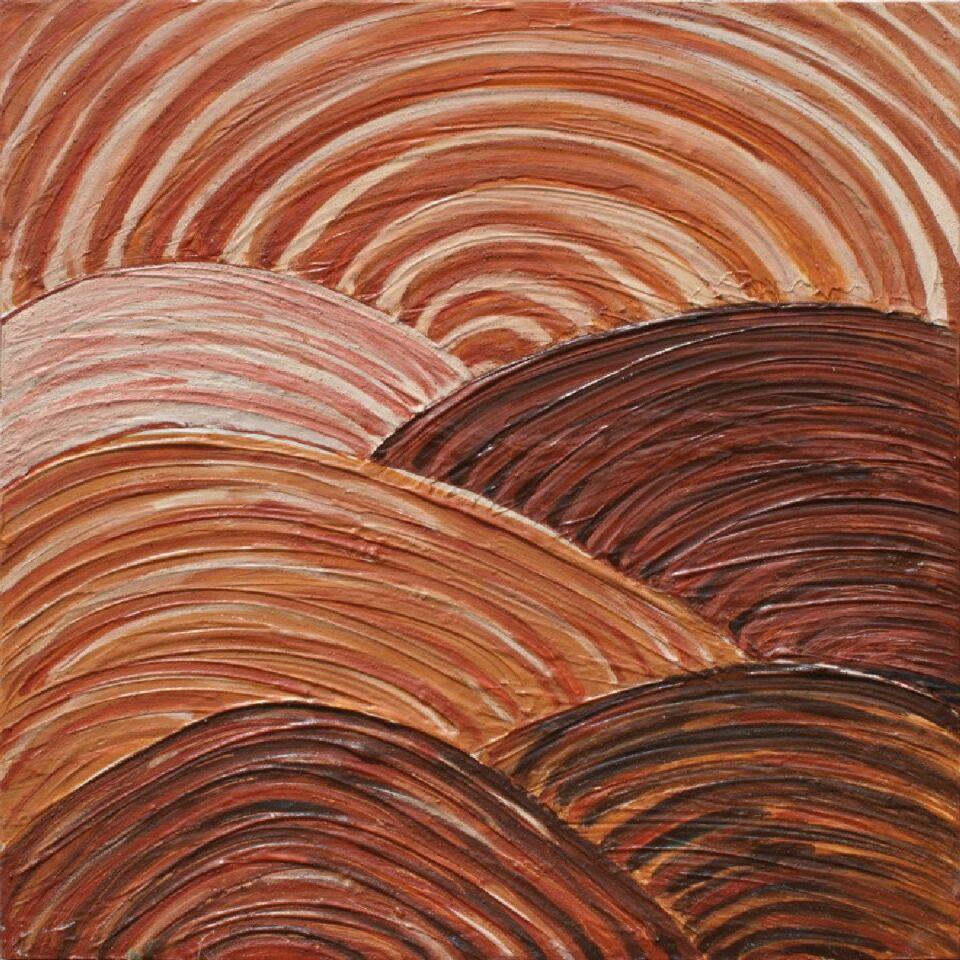 terra e resine naturali su tela - 100 x 100 cm - 2013