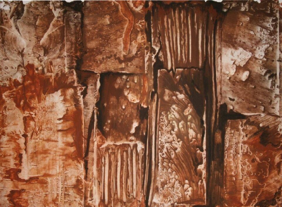 terre e resine naturali su carta intelata - 100 x 70 cm - 2013