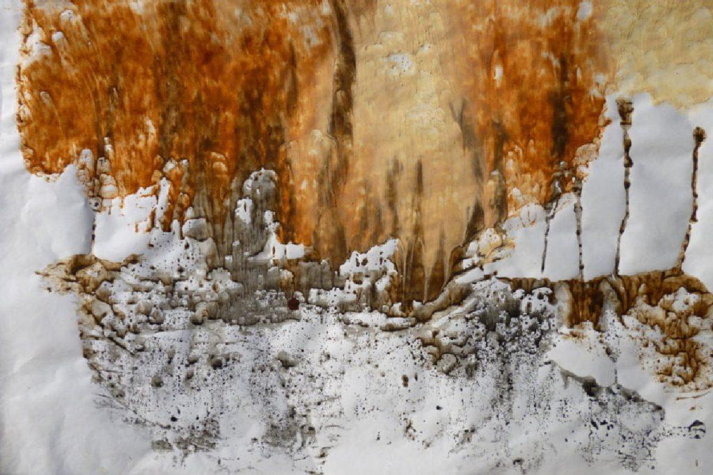 terre e resine naturali su carta - 75 x 45 cm - 2014