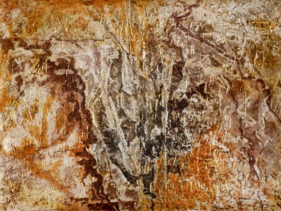 terre e resine naturali su carta - 100 x 74 cm - 2014