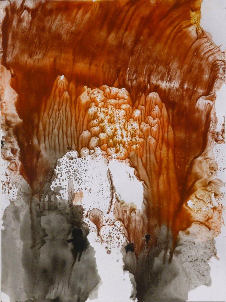 terre e resine naturali su cartoncino-  50 x 70 cm - 2014