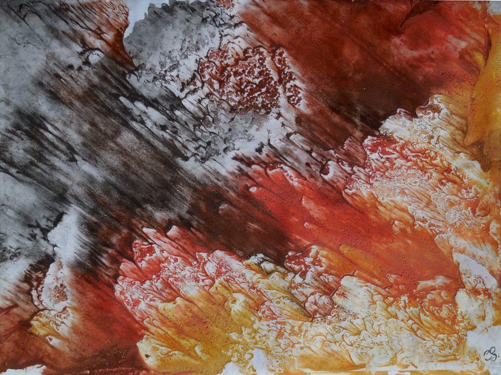 terre e resine naturali su cartoncino - 70 x 50 cm - 2016