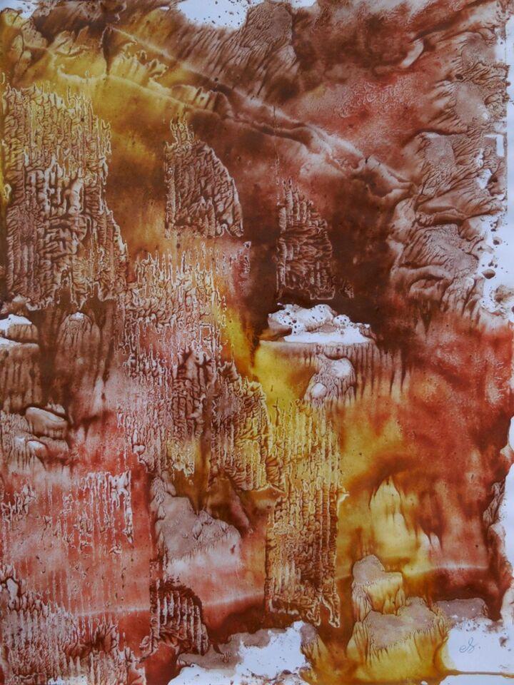 terre e resine naturali su carta - 50 x 70 cm - 2016